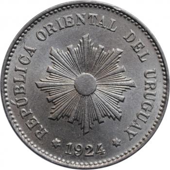"""Уругвай 5 сентесимо 1924 г., BU, """"Песо (1862 - 1974)"""""""