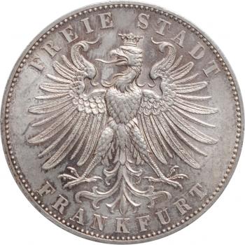 """Франкфурт 1 талер 1862 г., BU, """"Немецкий стрелковый фестиваль"""""""