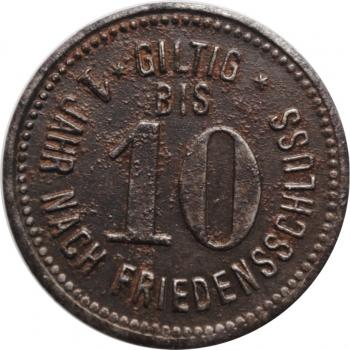 """Бавария - Пферринг 10 пфеннигов 1917 г., XF, """"Нотгельды Германии (1914 - 1924)"""""""