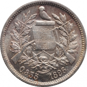 "Гватемала 2 реала 1898 г., BU, ""Реал (1838 - 1912)"""