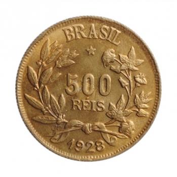 """Бразилия 500 рейсов 1928 г., BU, """"Первая Республика (1889 - 1942)"""""""