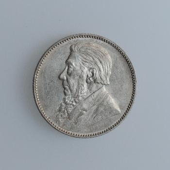 """Южно-Африканская Республика 1 шиллинг 1897 г., UNC, """"Президент Пауль Крюгер (1880 - 1900)"""""""