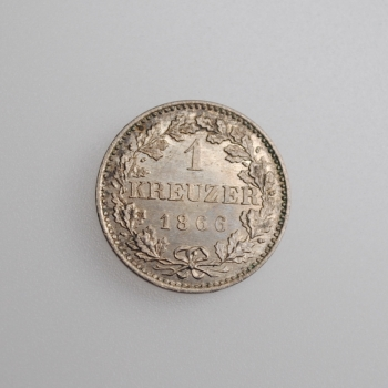 "Франкфурт 1 крейцер 1866 г., BU, ""Свободный город Франкфурт (1815 - 1866)"""
