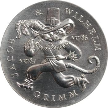 """ГДР 20 марок 1986 г., UNC, """"200 лет со дня рождения братьев Гримм"""""""