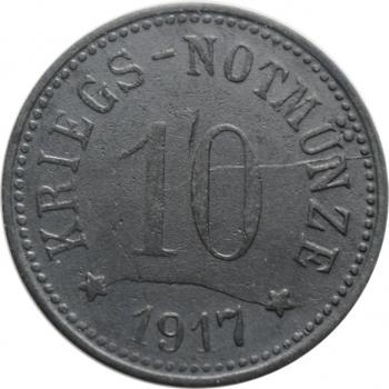 """Бавария - Кам 10 пфеннигов 1917 г., UNC, """"Нотгельды Германии (1914 - 1924)"""""""