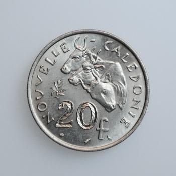 """Новая Каледония 20 франков 1967 г., UNC, """"Заморское сообщество Франции (1949 - 2017)"""""""