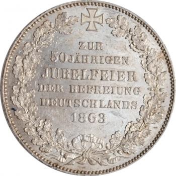 """Бремен 1 талер 1863 г., UNC, """"Освобождение Германии"""""""