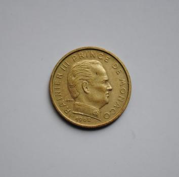 Монако 10 сантимов 1962 г., 'Новый франк (1960 - 2001)'
