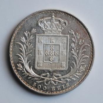Португалия 500 рейсов 1889 г., UNC, 'Король Луиш I (1861 - 1889)'