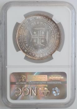 """Португалия 1000 рейсов 1898 г., NGC MS62, """"400 лет Открытию Индии"""""""