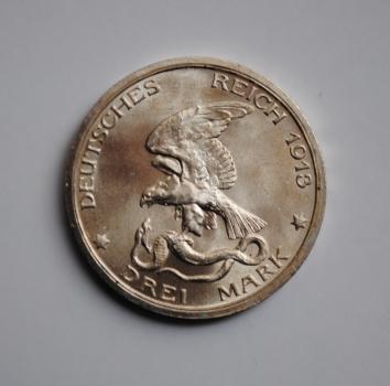 Пруссия 3 марки 1913 г., BU, '100 лет Битве народов'