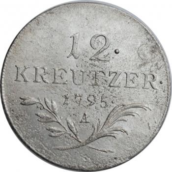 "Австрия 12 крейцеров 1795 г. A, AU, ""Император Франц II (1792 - 1835)"""