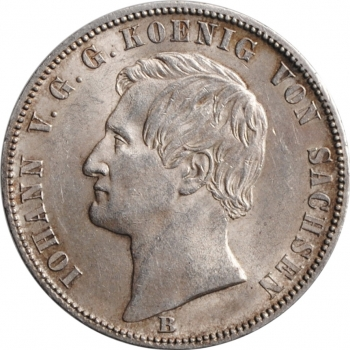 """Саксония 1 союзный талер 1871, UNC, """"Победа над Францией"""""""
