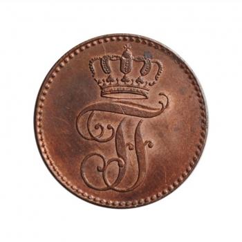 """Мекленбург-Шверин 3 пфеннига 1846 г., UNC, """"Фридрих Франц II (1842 - 1883)"""""""