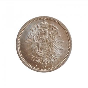 """Германия 20 пфеннигов 1876 г. A, BU, """"Германская Империя (1871 - 1922)"""""""