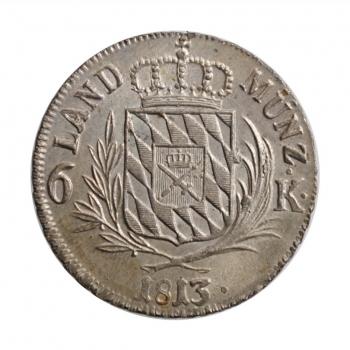 """Бавария 6 крейцеров 1813 г., UNC, """"Король Максимилиан I (1806 - 1825)"""""""