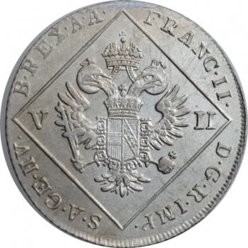"""Австрия 7 крейцеров 1802 г. B, UNC, """"Император Франц II (1792 - 1835)"""""""