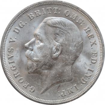 """Великобритания 1 крона 1935 г., UNC, """"25 лет правлению Короля Георга V"""""""