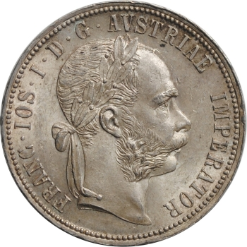 """Австрия 1 флорин 1890 г., UNC, """"Император Франц Иосиф (1848 - 1916)"""""""