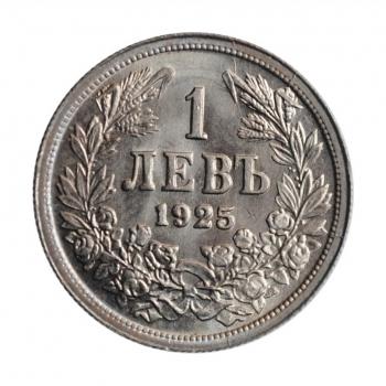 """Болгария 1 лев 1925 г., NGC MS63, """"Царь Борис III (1918 - 1943)"""""""