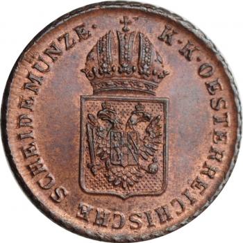 """Австрия 1 крейцер 1816 г. A, UNC, """"Император Франц II (1806 - 1835)"""""""