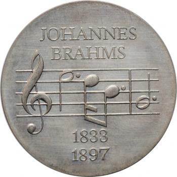 """ГДР 5 марок 1972 г., UNC, """"75 лет со дня смерти Иоганнеса Брамса"""""""
