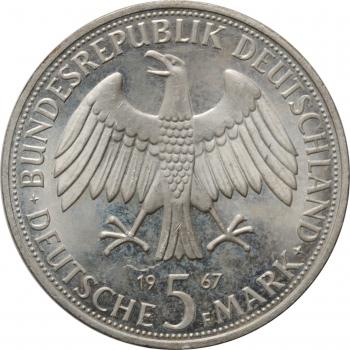 """Германия - ФРГ 5 марок 1967 г., BU, """"200 лет со дня рождения братьев Гумбольдтов"""""""