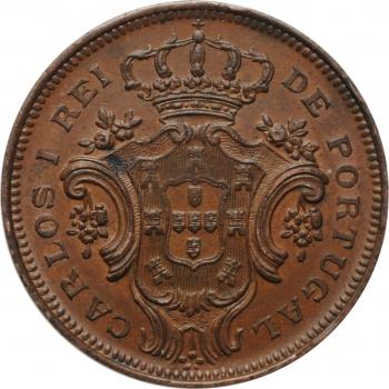 """Азорские острова 10 рейсов 1901, AU, """"Португальская Администрация (1848 - 1901)"""""""