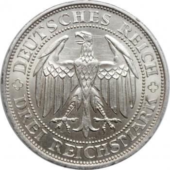 """Веймарская Республика 3 рейхсмарки 1929 г. E, UNC, """"1000 лет Мейсену"""""""
