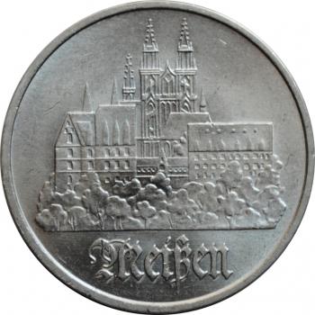"""ГДР 5 марок 1972 г., UNC, """"Город Мейсен"""""""