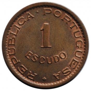 Ангола 1 эскудо 1965 г., UNC, 'Португальская колония (1921 - 1974)'