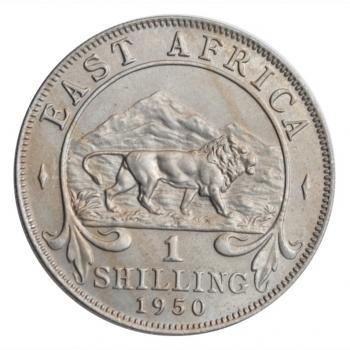 """Британская Восточная Африка 1 шиллинг 1950 г., UNC, """"Король Георг VI (1937 - 1952)"""""""
