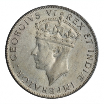 """Британская Восточная Африка 1 шиллинг 1941 г. I, UNC, """"Король Георг VI (1937 - 1952)"""""""