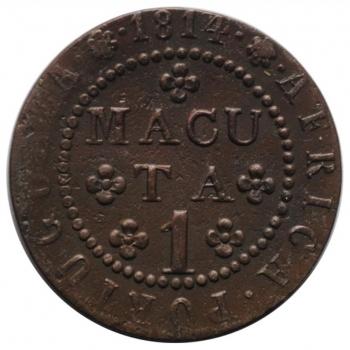 """Ангола 1 макута 1814 г., XF, """"Португальская колония (1693 - 1860)"""""""