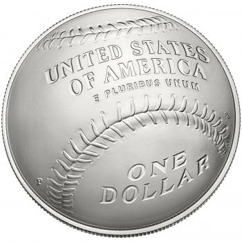 """США 1 доллар 2014 г., BU, """"Национальный зал славы бейсбола"""""""