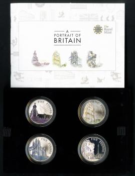 "Великобритания набор 5 фунтов 2014 г., PROOF, ""Портрет Британии"""