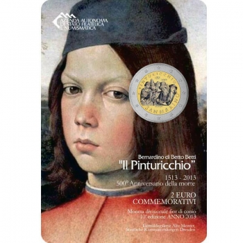 Сан-Марино 2 евро 2013 г., BU, '500 лет со дня смерти Пинтуриккьо'