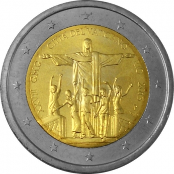 Ватикан 2 евро 2013 г., BU, '28-й Международный день молодёжи в Рио-де-Жанейро'