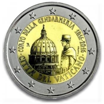 Ватикан 2 евро 2016 г., BU, '200 лет Папской жандармерии'