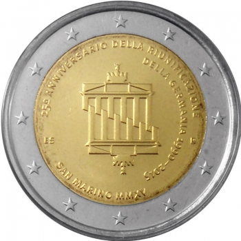 Сан-Марино 2 евро 2015 г., BU, '25 лет объединению Германии'