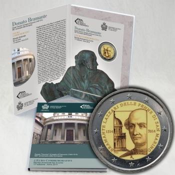 Сан-Марино 2 евро 2014 г., BU, '500 лет со дня смерти Донато Браманте'