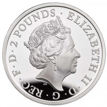 """Великобритания 2 фунта 2020 г., PROOF, """"Британия - Дух нации"""""""