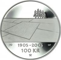 "Норвегия 100 крон 2003 г., PROOF, ""100 лет Независимости"""