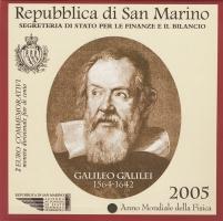 """Сан-Марино 2 евро 2005 г., BU, """"2005 — Всемирный год физики"""""""