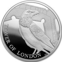 """Великобритания 5 фунтов 2019 г., PROOF, """"Легенда о воронах"""""""