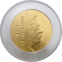 """Люксембург 5 евро 2012 г., PROOF, """"Поздняя орхидея паука"""""""