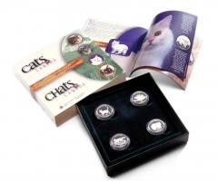 Канада набор 50 центов 1999 г., PROOF, 'Кошки Канады'