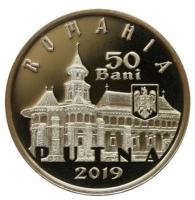 """Румыния 50 бань 2019 г., PROOF, """"550-летие освящения церкви в монастыре Путна"""""""