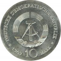 """ГДР 10 марок 1969 г., UNC, """"250 лет со дня смерти Иоганна Фридриха Бёттгера"""""""