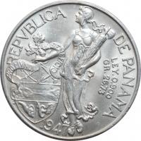 """Панама 1 бальбоа 1947 г., UNC, """"Республика Панама (1904 - 1960)"""""""